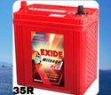 35 R Exide Mileage Red Car Battery