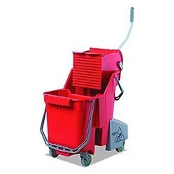 Unger Wringer Trolley 30 L Red