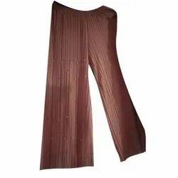 Interlock Twist Yarn Regular Fit Ladies Palazzo Pants