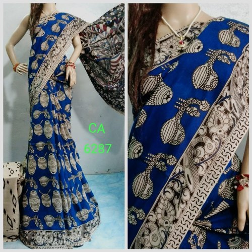 Silk Casual Wear Printed Kalamkari Saree