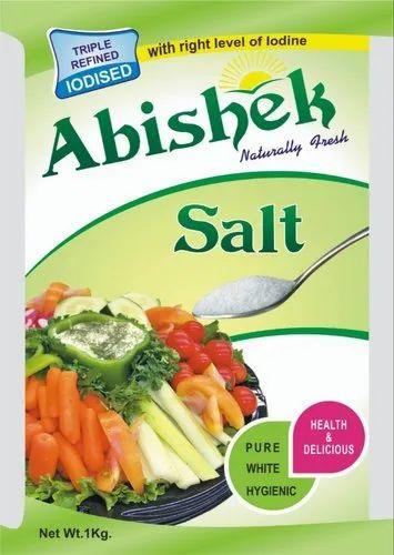 ABISHEK SALT White Iodised Crystal Salt