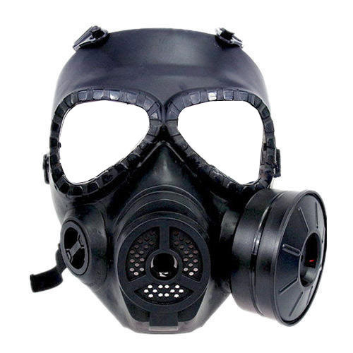Superfine Fiber Black Full Face Protection Gas Mask | ID