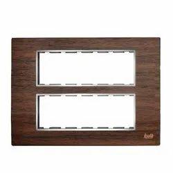 12 Module Teak Wood Modular Switch Plate