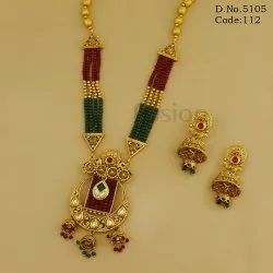 Antique Designer Beaded Kundan Pendant Sets