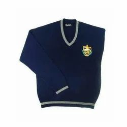 Blue School Uniform Woolen Sweater