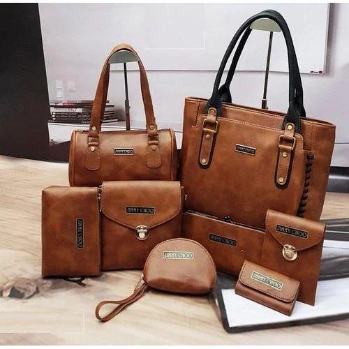 Leather Las Handbag Set