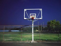 channel type basketball pole fixed type