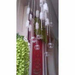 Round Ball White Decorative Crystal Pearls Beads Jhoomer