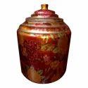Copper Printed Matka Pot