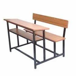 3 Seater Polished School Desk