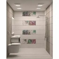 Ceramic Gloss Bathroom Wall Tile, Thickness: 0-5 mm