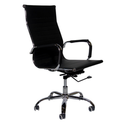 Black Polyester High Back Executive Chairs
