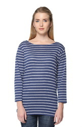 Women Stripe Full Sleeves Top
