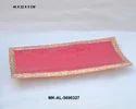Mki Metal Pink Enamel Aluminum Tray