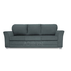 Adorn India Alexia Three Seater Sofa (Grey)