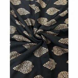 Gold Print Fabric For Kurti