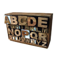 Wooden Alphabet Chest Drawer