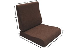 Contour Model Moulded PU Foam Sofa Cushion  for Wooden Sofa