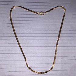 Mens Flat Cross Gold Plated Chain