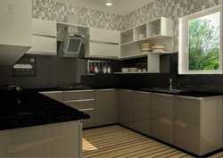 Plywood U Shape Kitchen