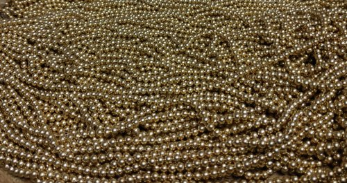 Round Golden Plastic Beads