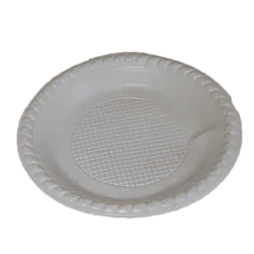 White Disposable Plate, for Event And Party Supplies And Utility Dishes