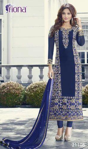 0ed45243a4 Georgette Party Wear Lakhnavi Work Salwar Suit