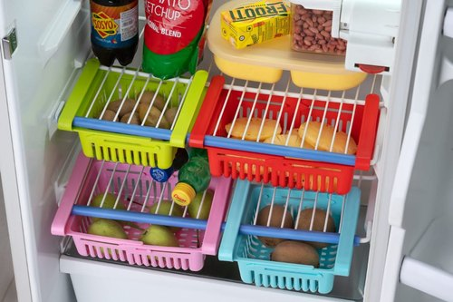 Adjustable Refrigerator Organizer Rack Tray