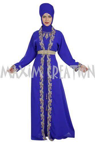 6d6b97589c8 Royal Blue Djellaba Wedding Gown Maxi Dress