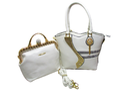 Leather White Branded Combo Handbags