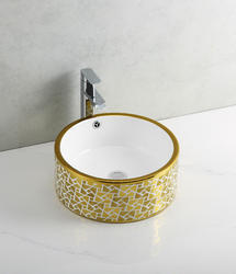 Stainless Steel CECT-318-Gold Counter Top Basins