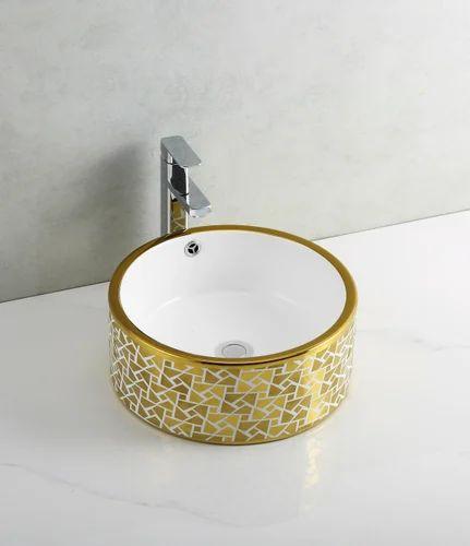 cect318gold counter top basins