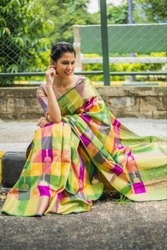 Indian Ethnic Designer Bridal Wear Kanchipuram Silk Saree