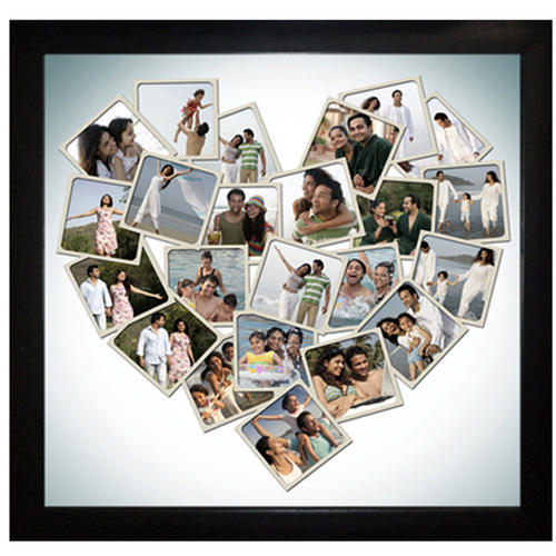 Personalized Valentine Heart Collage Photo Frame at Rs 2199 /number ...
