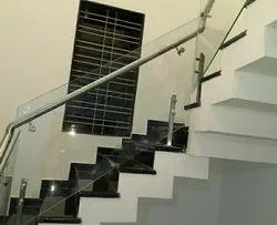 Stainless Steel Glass Railing, Material Grade: 202 Or 304