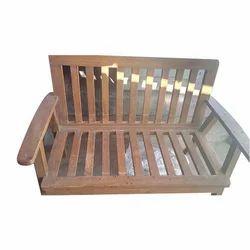 Brown Teak Wood Wooden Sofa Frame, Shape: Horizontal