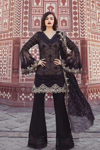 f735cbbb276 Wedding Wear And Party Wear Georgette Maria B Vol 4 Pakistani Salwar Suits