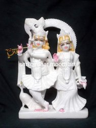 Radha Krishna Ji Marble Statue