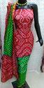 Bandhani Silk Dress Material
