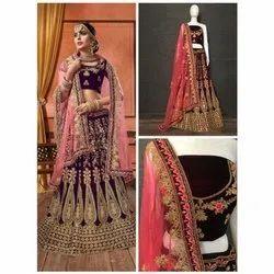Bridal Wear Designer Velvet Lehenga Choli