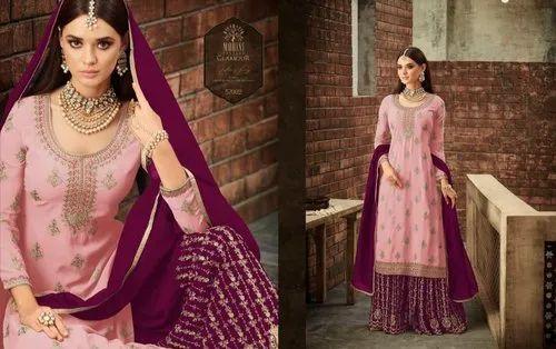 e8e8384fe1 Georgette Embroidered Sharara Dress, Rs 1300 /piece, Leranath ...