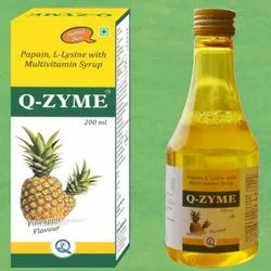 Papain L-Lysine With Multivitamin Syrup