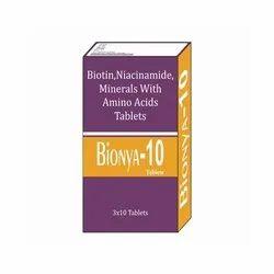 Biotin Niacinamide Minerals With Amino Acids Tablets- Bionya-10