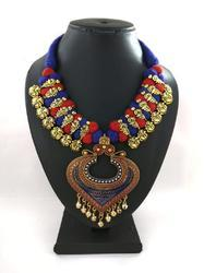 Thread Meenakari Oxidized Necklace
