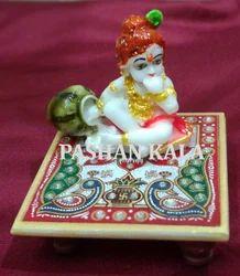 Marble krishna Chowki
