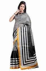 Art Silk Floral Printed Saree, 5.2 m (separate blouse piece)