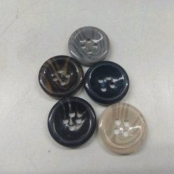 Round Plastic Horn Button