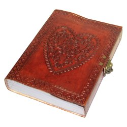 Celtic Heart Leather Journal
