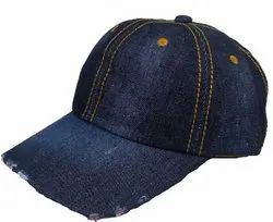 Dark Blue Torn Jeans Cap