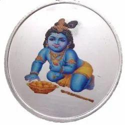 Ashirwad Laddu Gopal New Born Baby Gift Set Color Silver Coin 10 gm